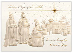 Three Kings Rejoice Religious Card