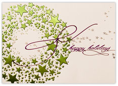 Starry, Starry Wreath Holiday Card