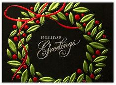 Red & Green Foil Wreath