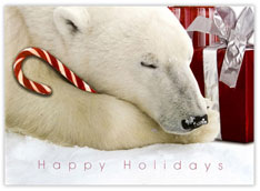 Polar Bear and Candy Cane