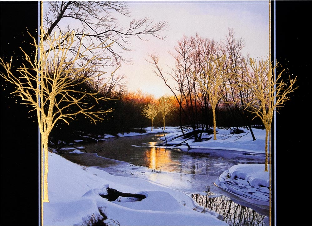 Winter Christmas Cards Winter Scenery Greeting Cards