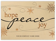 Hope Peace Joy Christmas Card