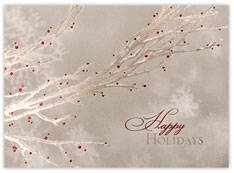 Silver Branches Christmas Card
