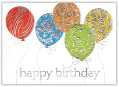 Textured Birthday Balloons