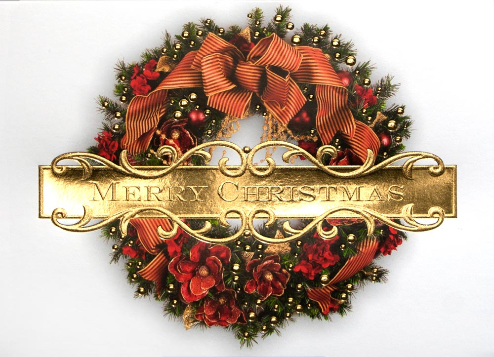 Christmas Cards > Images of Christmas > Wreaths > Traditional Merry ...
