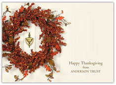 Berry Wreath Thanksgiving Card