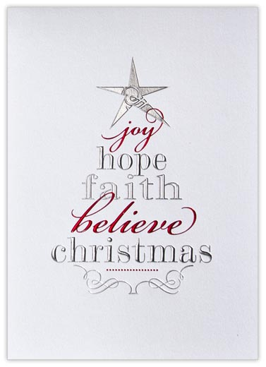 Tree of Words - Christmas Cards from CardsDirect