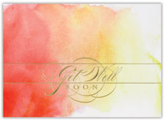 Ombre Watercolor Wishes Card