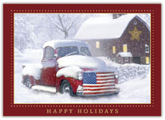 Holiday Americana Christmas Card