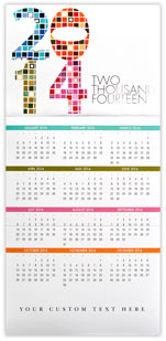 Colorful Squares Calendar