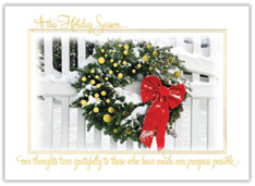 Gleaming Thanks Wreath