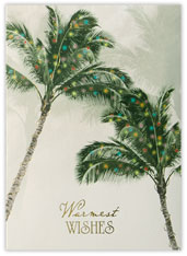 Holiday Palm Trees Card