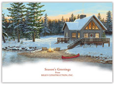 Christmas Cabin Card