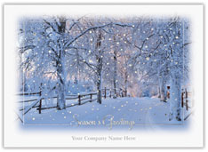 Snowy Path Christmas Card