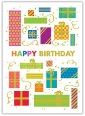 Glitter Birthday Packages Card