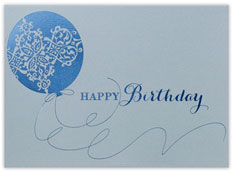 Birthday Blue Pattern