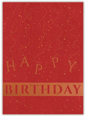 Simply Red Birthday Card