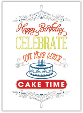 Birthday Cake Celebration Card