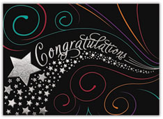 Stars and Swirls Congratulations Card