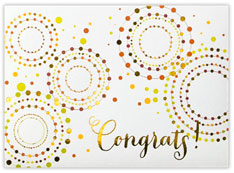 Circled Congrats Card