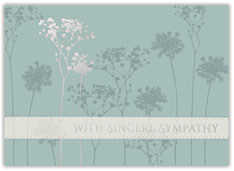 Silhouette Flowers Sympathy Card