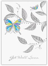Get Well Butterflies Card