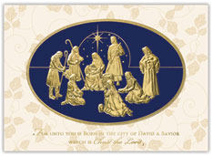 Nativity in Foil Card
