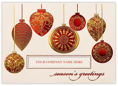 Ornately Decorated Ornaments Card