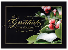 Gratitude at the Holidays Card