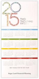 2015 Mosaic Calendar Card