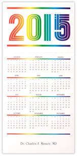 2015 Rainbow Calendar