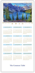 Blue Mountains Calendar Card