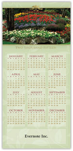 Garden Beauty Calendar Card