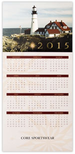 Lighthouse View Calendar Card