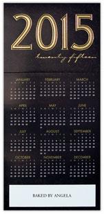 2015 Black Tone on Tone Calendar