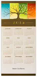 Seasons of Splendor Calendar Card