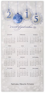 World of Good Wishes Calendar Card