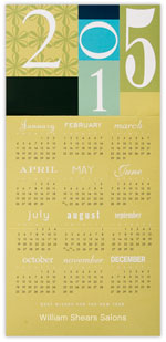 2015 Color Block Calendar