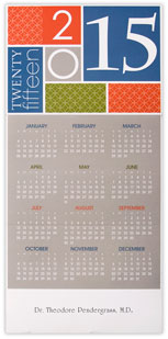 2015 Contemporary Color Block Calendar