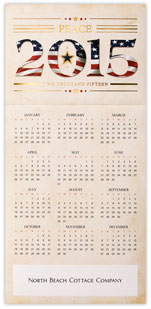 Patriotic Peace Flag Calendar Card