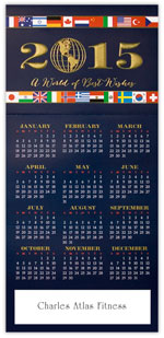 Flags of Best Wishes Calendar Card