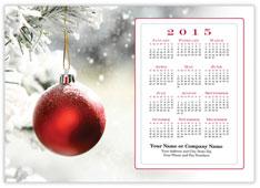 Snowy Ornament Calendar Postcard