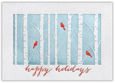 Birch Treeline Christmas Card