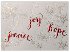 Peace Joy Hope Snowflakes