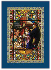 Nativity Stained Glass Card