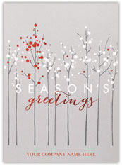 Contemporary Tree Line Christmas Card