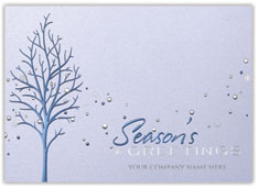 Sparkling Blue Greetings Card