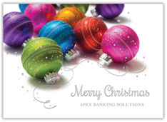 Colorful Ornaments Christmas Card