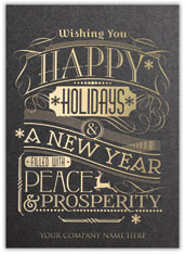 Typography Holiday Card