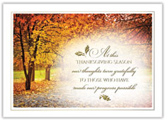 Thanksgiving Golden Appreciation Card